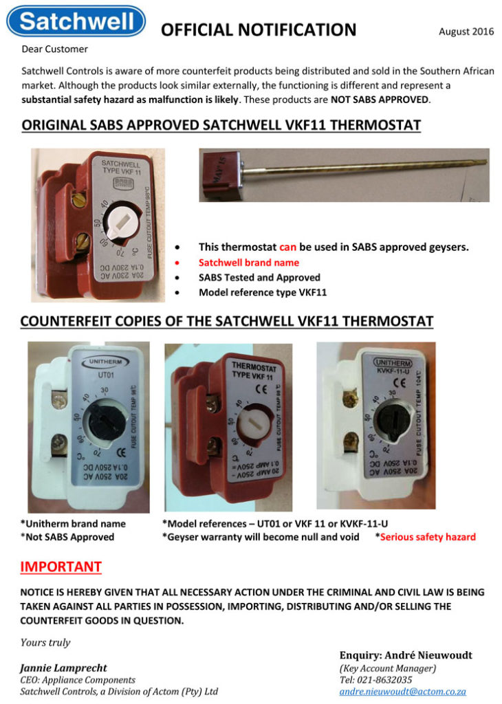 Satchwell geyser thermostat wiring diagram